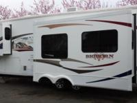 This luxury 3 slide fifth wheel is a beauty. It has an