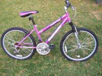 Bicycle, 24 in with purple & Unisex. Also has suspenion