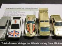 Total of seven vintage Hot wheels dating from 1969 to