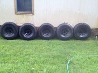 "I have 5 35"" tires for sale. 4 have about 40 % tread"