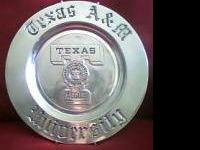 "Selling my large Wilton Columbia PA solid pewter ""TEXAS"