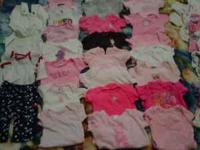 One outfit, 4 sleepers, 1 snowsuit, 26 onesies, 1