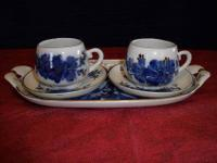 The last tea pot and cup with saucer is from Romania,