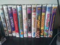 I have 35 vhs movies 1.hunch back of nortre dame