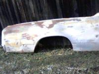 A pre-owned rt 1966 El camino quarter panel I brought