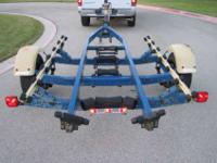 FULLY ADJUSTABLE, FULL ROLLER, TILTING, BOAT TRAILER,