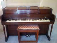 This is a nice little spinet piano made by Lester in