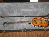 I am selling my Epiphone Viola bass guitar with its