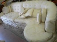 White/Silver Designed Sofa wth 2 One person sized