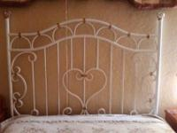 One of a kind handcrafted custom built wrought iron bed