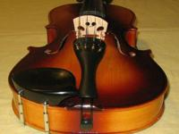 Student violin 1/2 size $35.00, The case and bow are