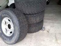 i have 4 tires for sell with rims included......tires