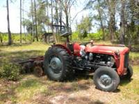 1982 IMT 35HP TRACTOR W/ATHENS 5FT DISK. DISK HAS