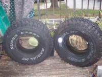 for sale 2 almost new 35 x12.5 x15 mud tires steal have