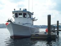 This is a 1961 Chesapeake Bay style fishing boat. COI