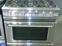 "36"" Natural Gas Convection Range with Six Sealed"