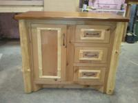 "New 36"" log vanity for sale. Built from rustic alder"