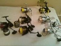 36 new and used fresh and saltwater fishing reels *READ