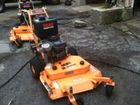 "Selling a scag 36"" Mower. Purchased this unit new in"