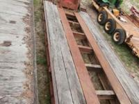 36 lot 1973 Talbert lowboy removable equipment trailer,