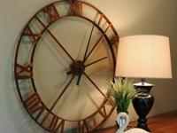 "36"" Wall Clock - Industrial Steel/MetalThis clock is"
