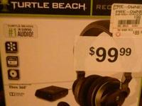 Have like new in box wireless xbox 360 turtle beach