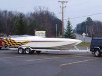 1999 28' Profile catamaran with 540 bulldog engine,