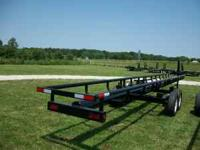 36ft hay trailer tandem axle 1 brake 1 idler axle