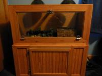 "36""X18""x18"" wood reptile encloser with matching stand."