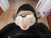 37 inch Black Stuffed Gorilla for sale Kept by an adult