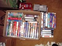 Cleaning out the house! I have 37 VCR Tapes for sale.