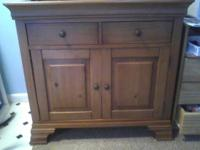 "I have a 37"" wide, 34"" height, solid wooden cabinet for"