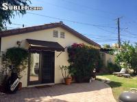 It is a cozy guesthouse located in Beverly Hills. The