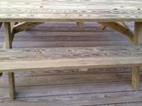 Custom Made 8 ft Picnic Table. We use top quality