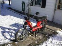 I am selling my red, semi-working Indian moped. It has