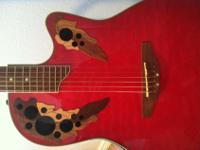 Awesome Acoustic electric Ovation guitar! This guitar