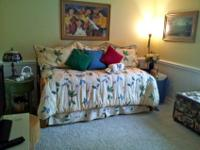 Rarely Used Daybed, Trundle, Mattress, Bedding, and