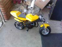 My Name Is Blair. I Have A 47cc Pocket Bike Its A