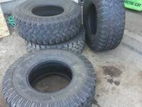 37 12.50 17 pro comp tires  50% tread  no cuts holes