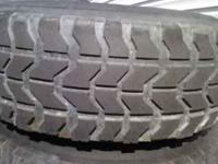 37x12.50x16.5 hunner tires Desent tread Has been pluged