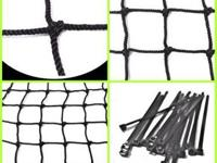 Baseball netting ideal for hitting and barrier