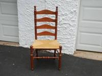 LADDER BACK CHAIR WITH RUSH SEAT Very nice ladder back