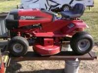 13HP Tecumseh 38in. cut. Runs perfect. Put new blades,