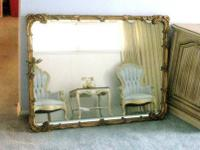 Vintage Wall MIRROR Carved Gold Gilt Frame FRENCH