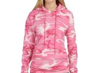 7.5 oz., 60% cotton, 40% polyester fleece-lined hood