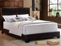 Leather Bed, the Erin Bed and Pillowtop Mattress Set,