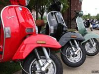 Red 2005 Vespa PX250 with only 300 original