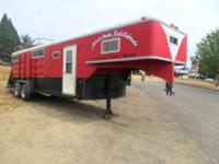 1972 Premier four Horse Straight Load Trailer. 78 amp