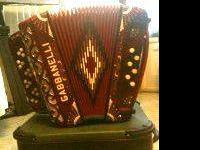 ACCORDION GABBANELLI for sale red color like new 10 10