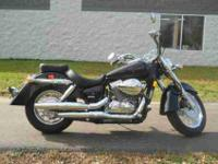 2008 HONDA SHADOW AERO (VT750C), Black,